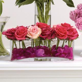 Pink Rose Vase Arrangement